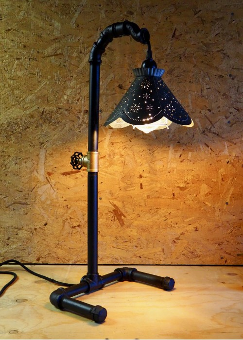Tall Shaded Table Lamp